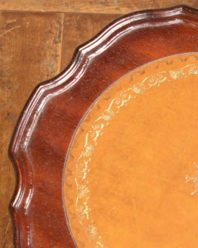 j-1832-f アンティークワインテーブルの縁
