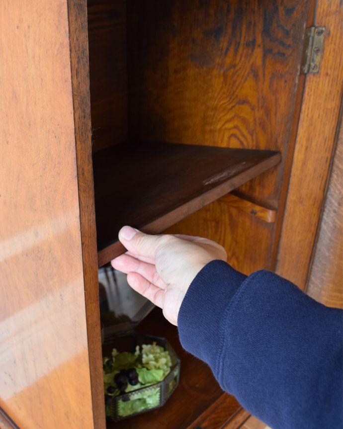 j-1852-f アンティークナイトテーブル(ベッドサイドキャビネット)の棚板