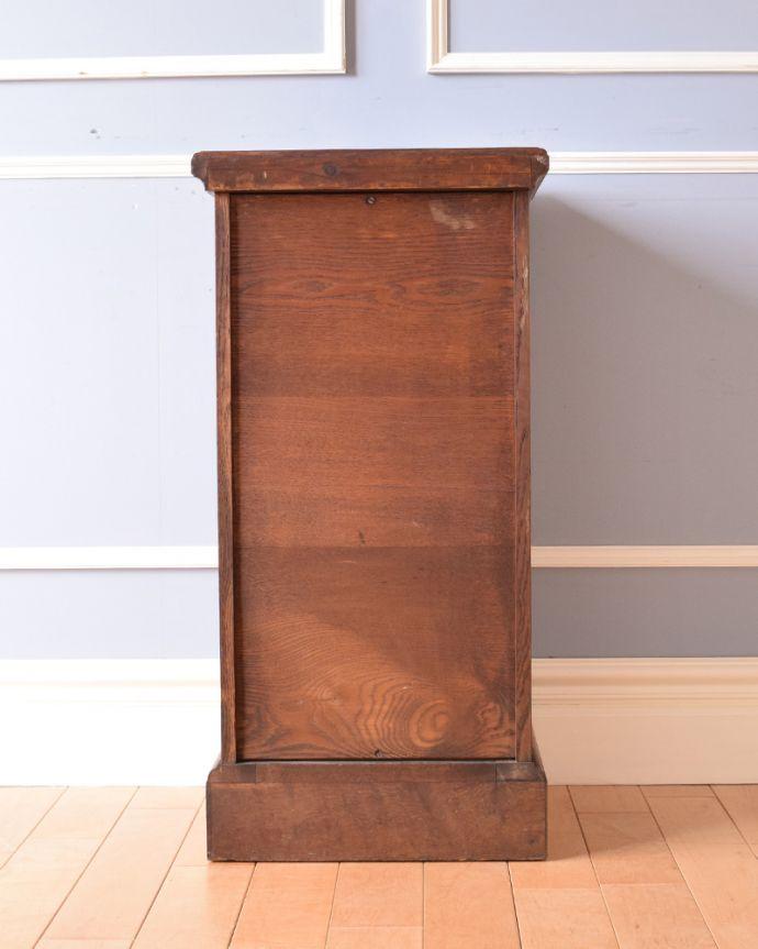 j-1852-f アンティークナイトテーブル(ベッドサイドキャビネット)の後ろ