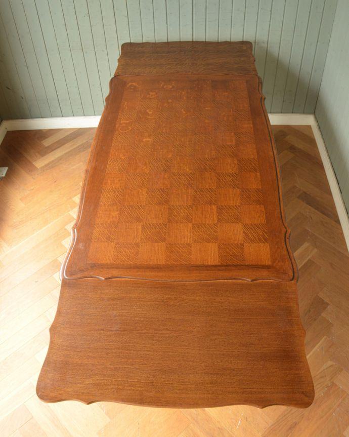 j-1855-f アンティークドローリーフテーブル(伸張式ダイニングテーブル)の天板