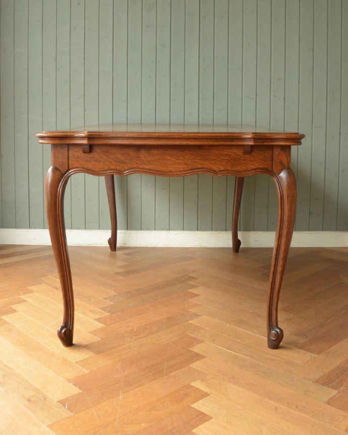 j-1855-f アンティークドローリーフテーブル(伸張式ダイニングテーブル)の横