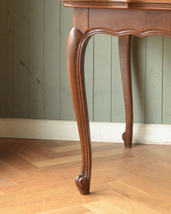 j-1855-f アンティークドローリーフテーブル(伸張式ダイニングテーブル)の脚