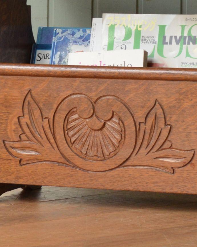 j-1856-f アンティークマガジンラックの装飾