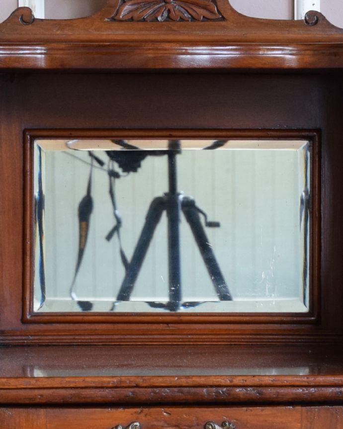j-1858-f アンティークコールボックスのミラー
