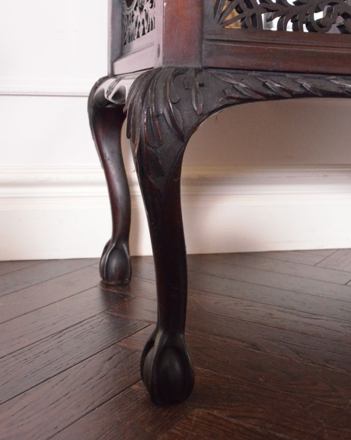 j-1866-f アンティークパーラーキャビネットの脚