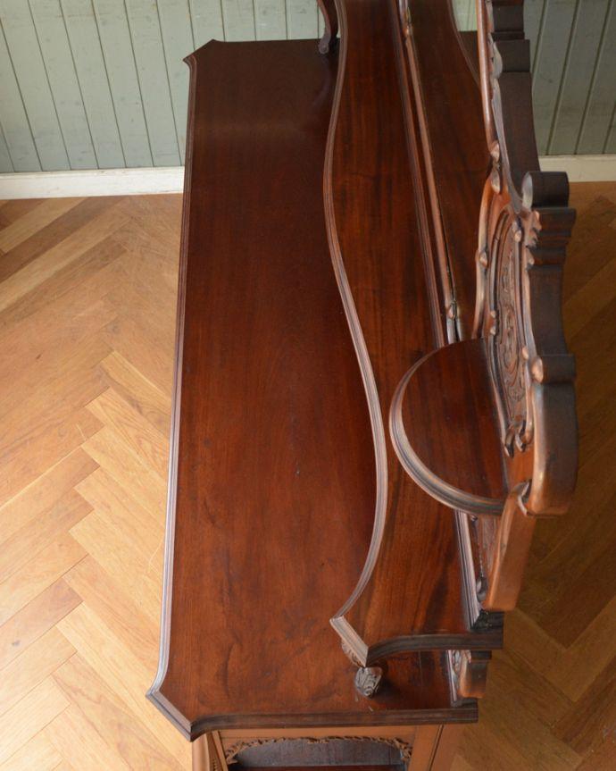 j-1867-f アンティークパーラーキャビネットの天板