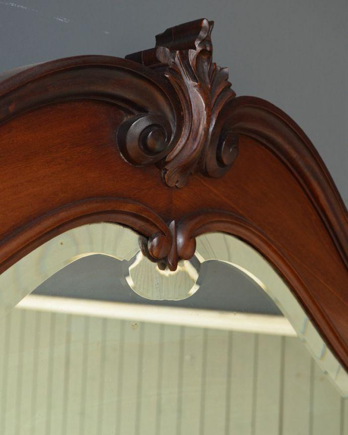 j-1867-f アンティークパーラーキャビネットのトップ