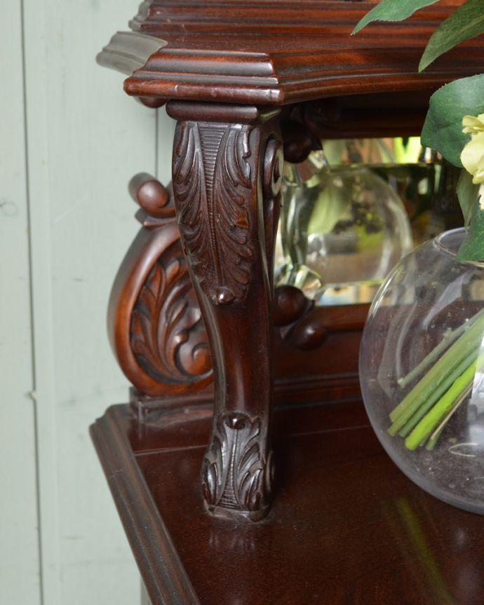 j-1867-f アンティークパーラーキャビネットの装飾2