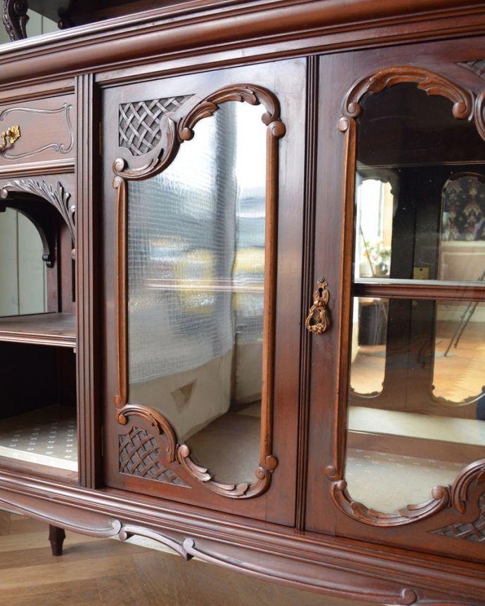 j-1867-f アンティークパーラーキャビネットの扉