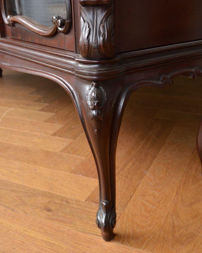 j-1867-f アンティークパーラーキャビネットの脚