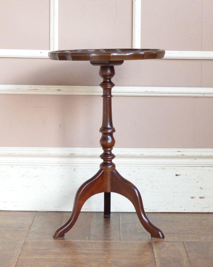 j-1870-f アンティークワインテーブルの全体