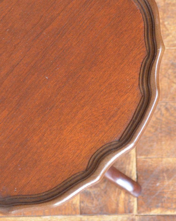 j-1870-f アンティークワインテーブルの角