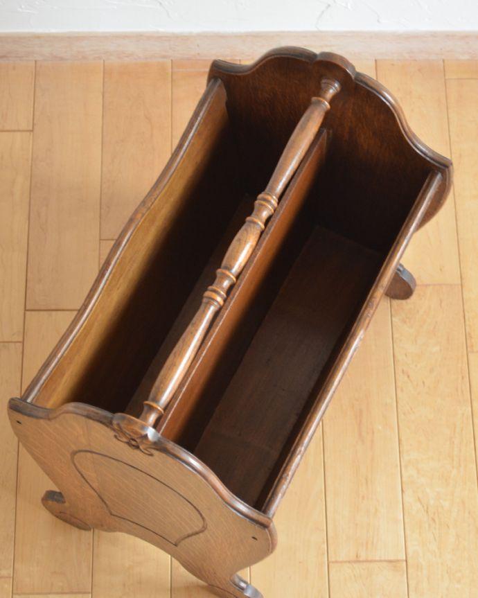 j-1880-f アンティークマガジンラック(コミック収納)の箱内