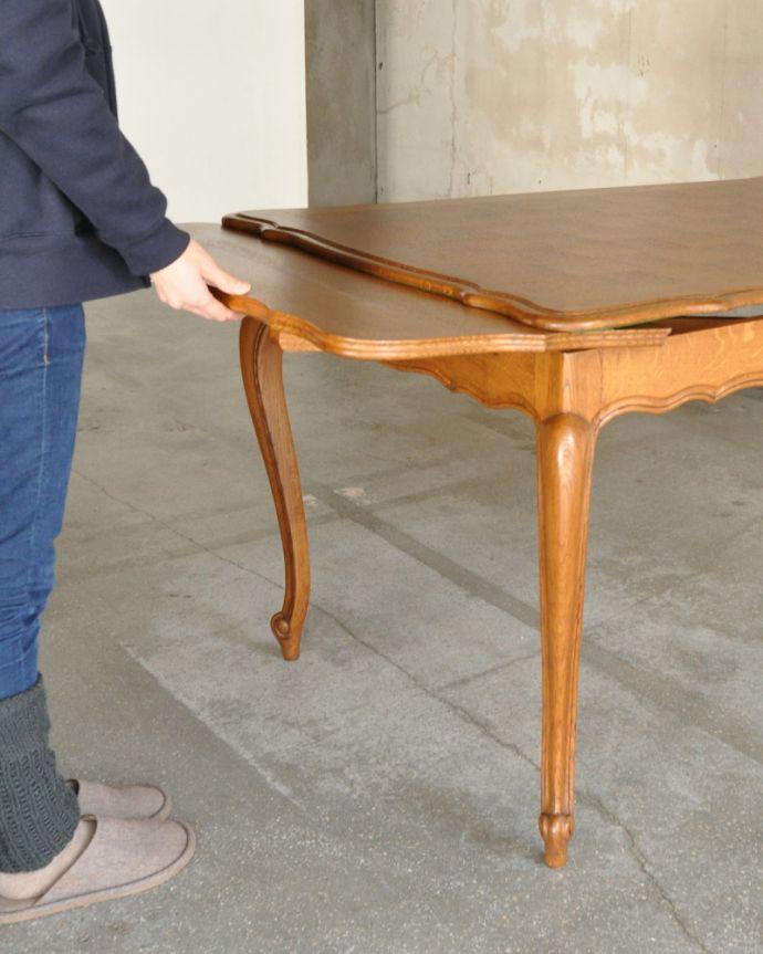j-1898-f アンティークドローリーフテーブルの組み立て