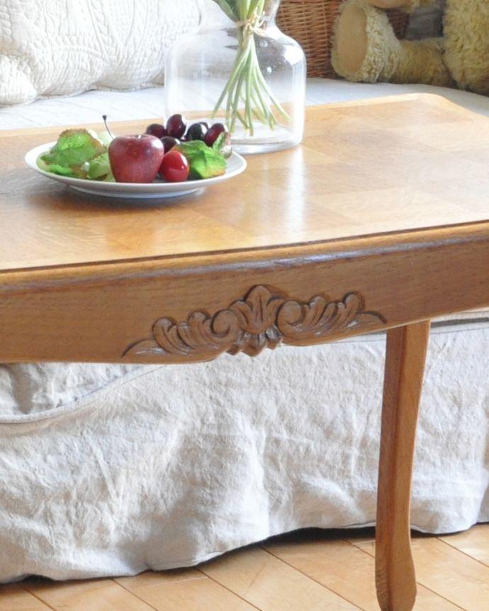 j-1928-f アンティークコーヒーテーブルの彫り