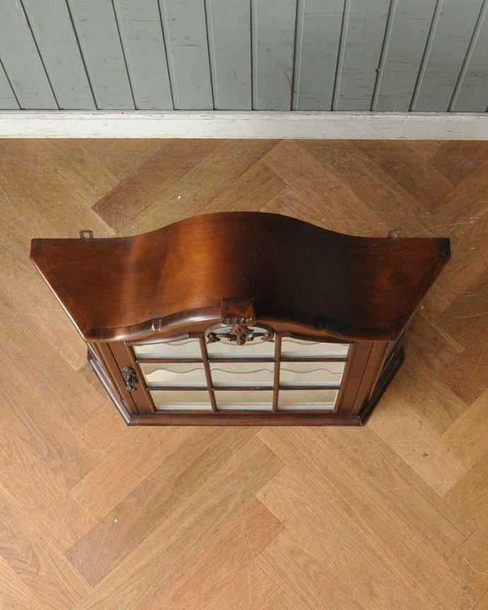 j-1950-f アンティークウォールガラスキャビネットの天板