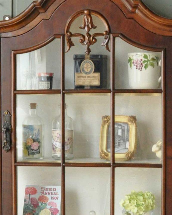 j-1950-f アンティークウォールガラスキャビネットのガラス扉