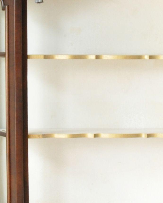 j-1950-f アンティークウォールガラスキャビネットの棚板
