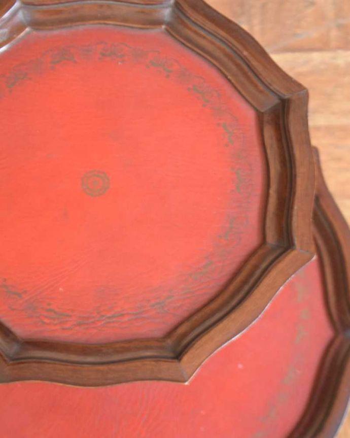j-2277-f アンティークワインテーブルの天板ズーム