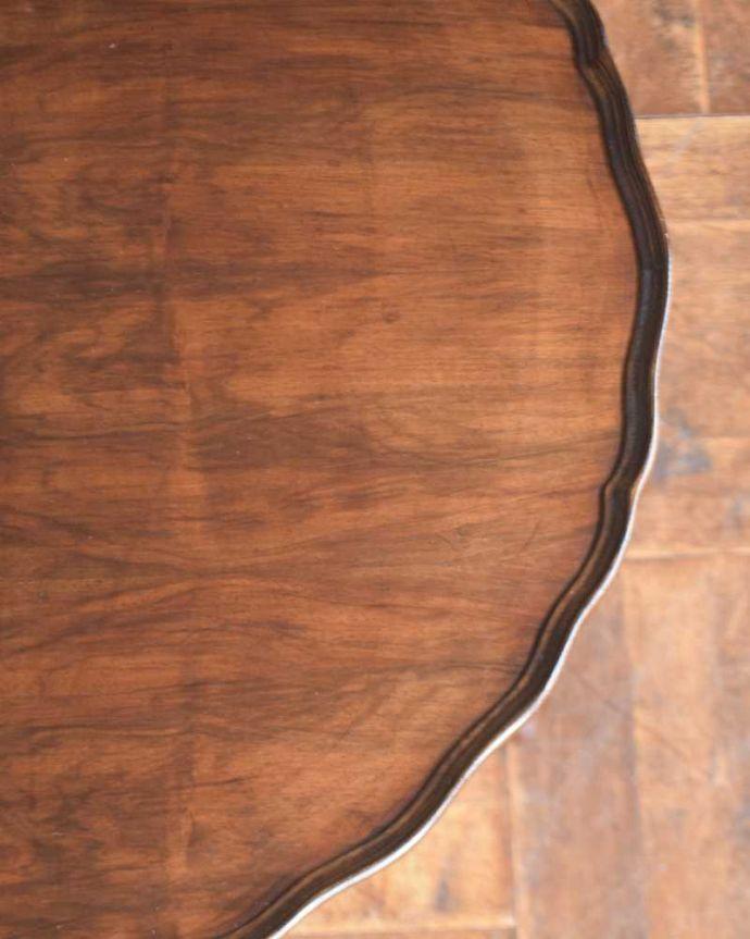 j-2309-f アンティークコンソールテーブルの天板ズーム