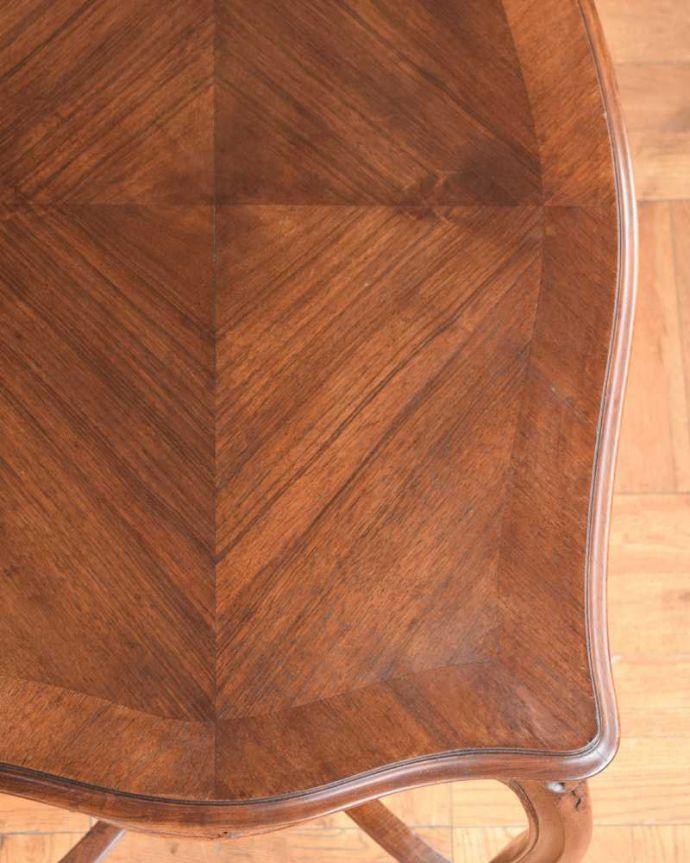 j-2331-f  アンティークオケージョナルテーブルの天板ズーム