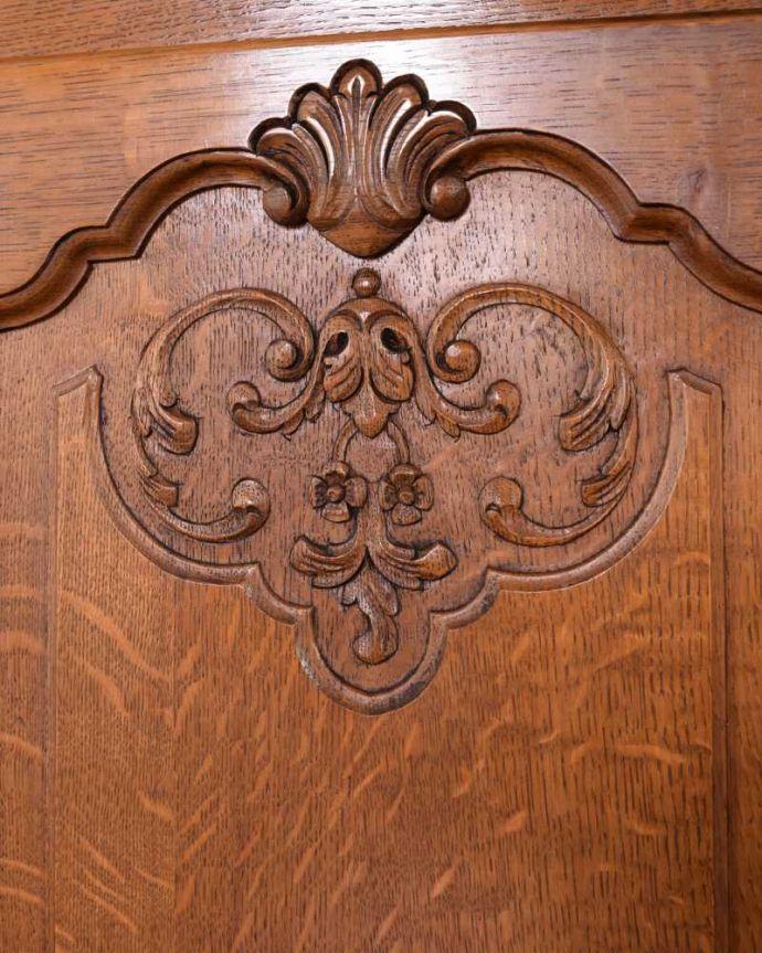 j-2339-f アンティークキャビネットの扉装飾