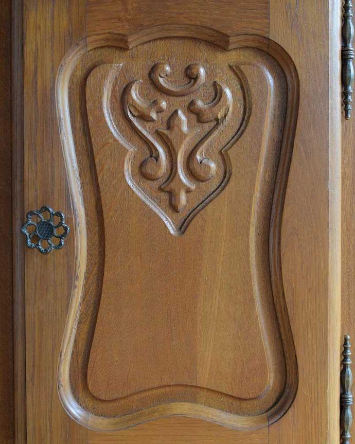 j-2386-f アンティークキャビネットの扉装飾