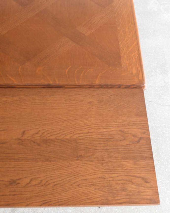 j-2411-f アンティークダイニングテーブルの天板ズーム