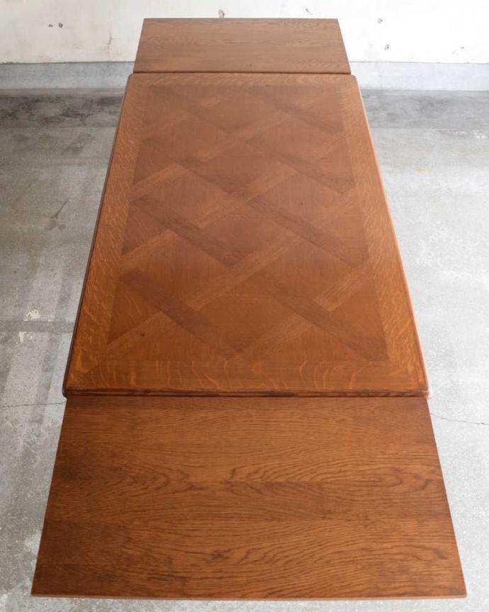 j-2411-f アンティークドローリーフテーブルの天板(閉じた状態)