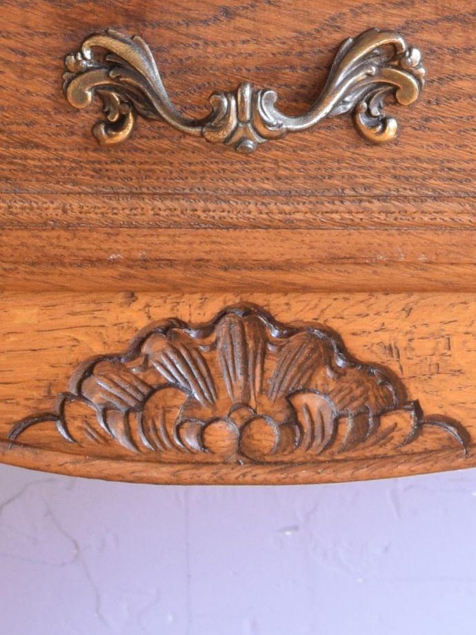 アンティークのチェスト アンティーク家具 キャビネット フランスらしい彫りフランスらしさの象徴とも言える、優雅な彫りの装飾。(j-2762-f)