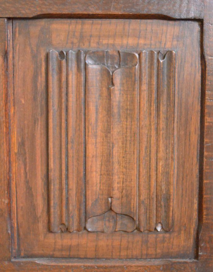 j-944-f アンティークコファー(ベンチ)の彫り