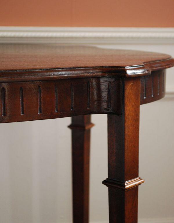 k-1087-f アンティークオケージョナルテーブルの彫
