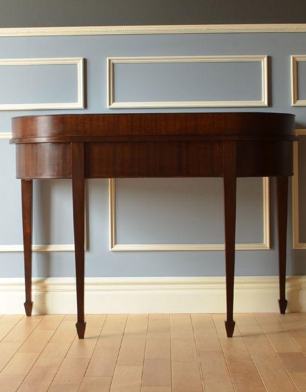ロイドテーブル アンティーク家具 両面使える美しいアンティーク英国家具、マホガニー材のライティングデスク。きちんとメンテナンスしてあるので、裏側もキレイです。(k-1197-f)
