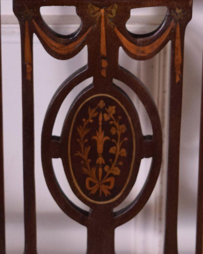 k-1215-c アンティークアームチェアの象嵌