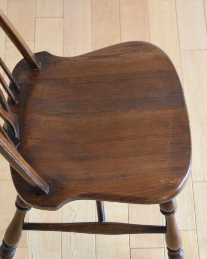 k-1220-c アンティークキッチンチェアの座面