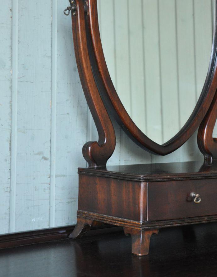 k-1226-f アンティークドレッシングテーブルの彫
