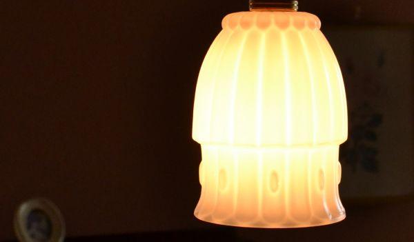 k-1277-z アンティークガラスシェードの点灯時2