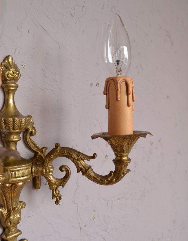 k-1286-z アンティークウォールブラケット(2灯)の蝋管