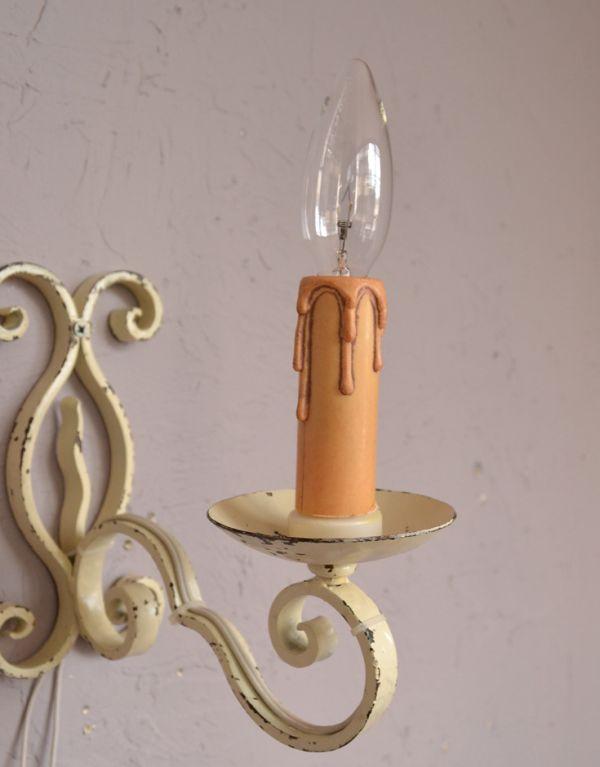 k-1287-z アンティークウォールブラケット(1灯)の蝋管