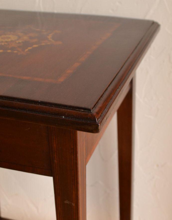 k-1297-f アンティークオケージョナルテーブルの角