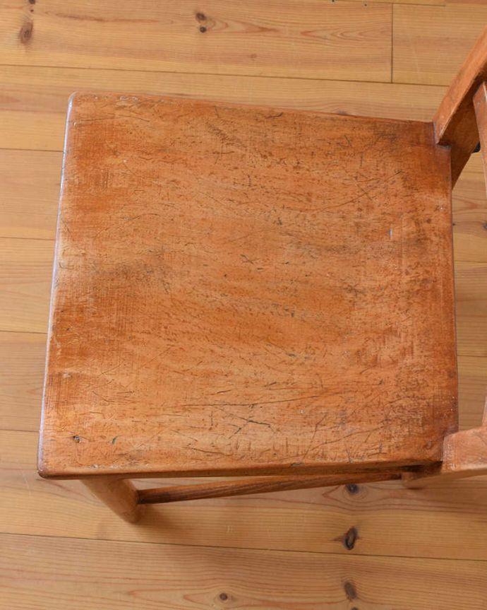 k-1298-c アンティークキッチンチェアの座面