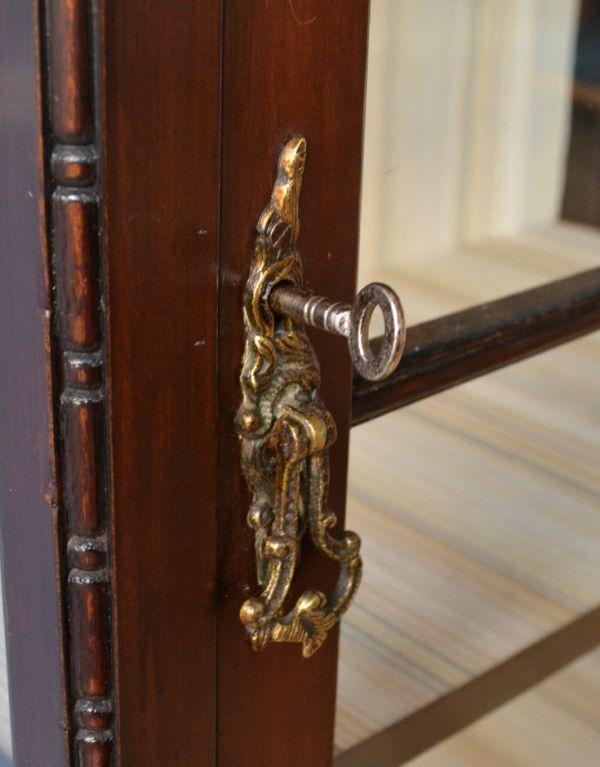 k-1305-f アンティークガラスキャビネットの鍵