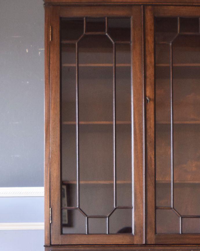 k-1315-f アンティークカップボード(食器棚)のガラス