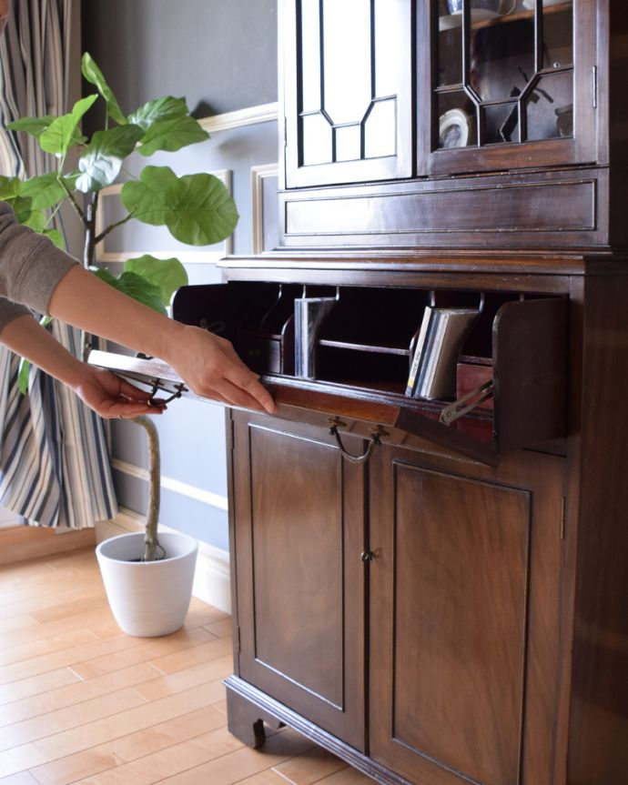 k-1315-f アンティークカップボード(食器棚)の組み立て
