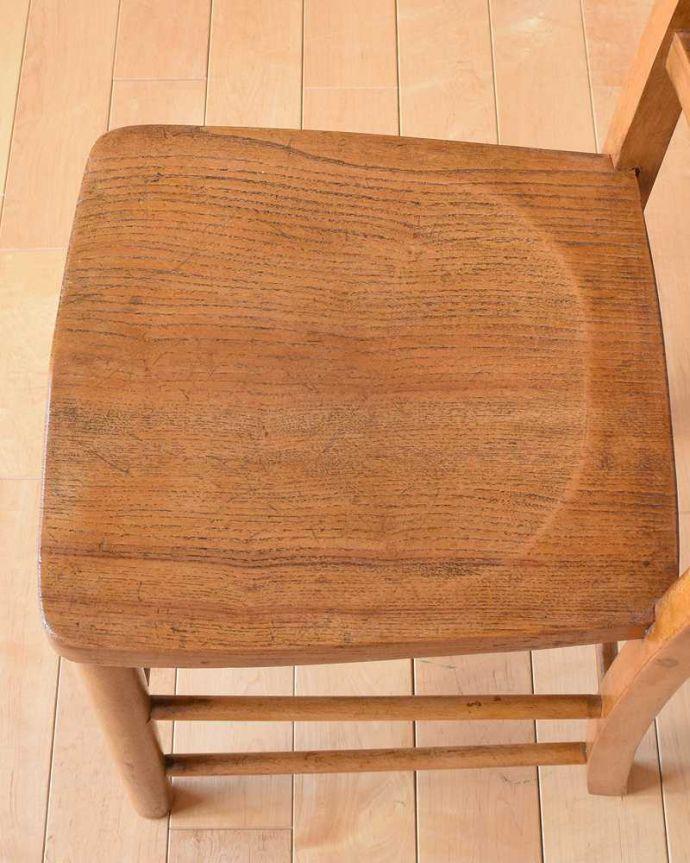 k-1322-c アンティークキッチンチェアの座面