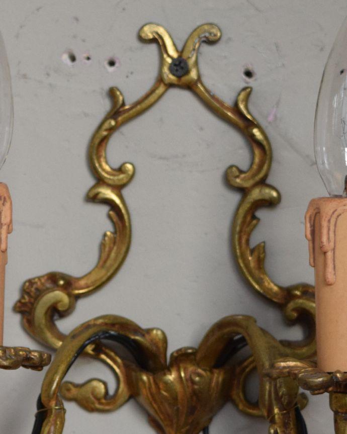 k-1334-z アンティーク壁付け照明(2灯)の装飾