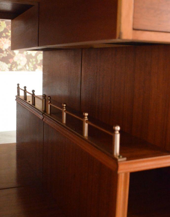 k-1354-f アンティークキャビネットの扉の中棚