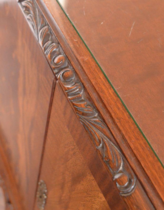 k-1354-f アンティークキャビネットの角の装飾