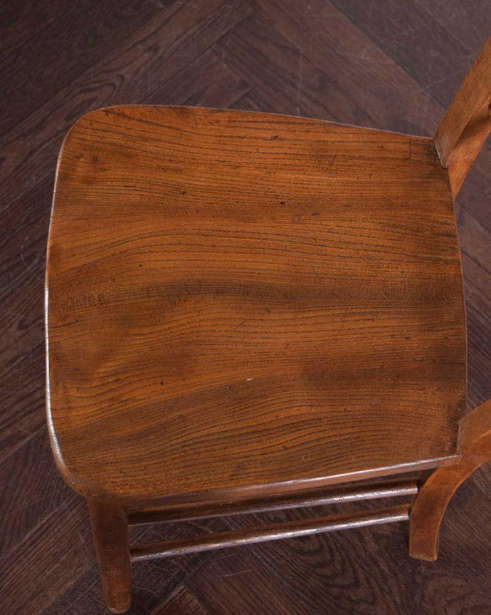 k-1378-c アンティークキッチンチェアの座面