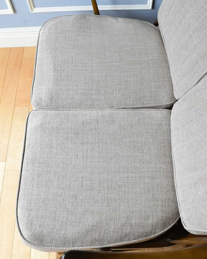 k-1385-c アンティークアーコールソファ(3人掛け)の座面